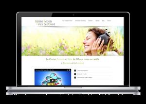 Conception du site web du centre de formation écoute et voix