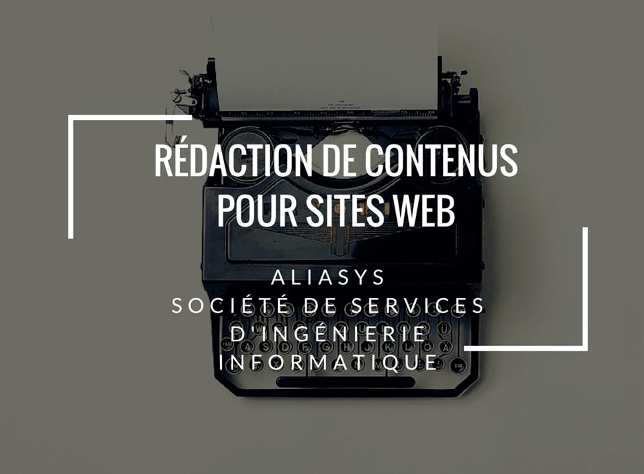 refonte editoriale site web alliasys