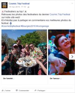 Reportage social media pour festival