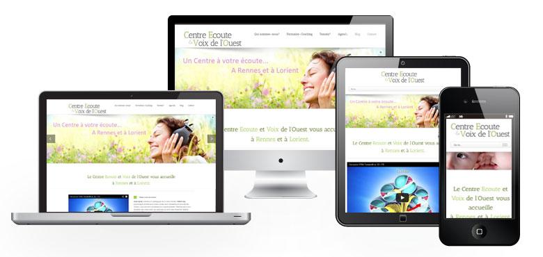 Dernière réalisation de l'agence Oulaoups : le site web du Centre Ecoute et Voix de l'Ouest