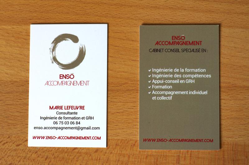 Logo Et Cartes Visites Enso Accompagnement