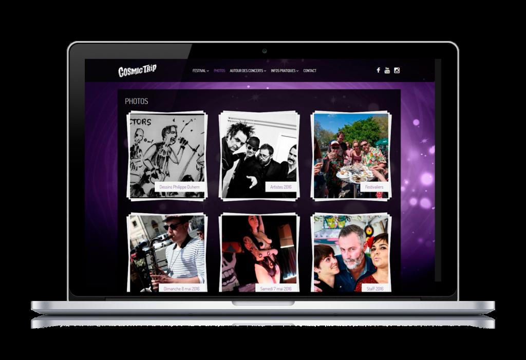 Création site web pour un festival