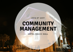 community management pour l'hotel le magic_hall