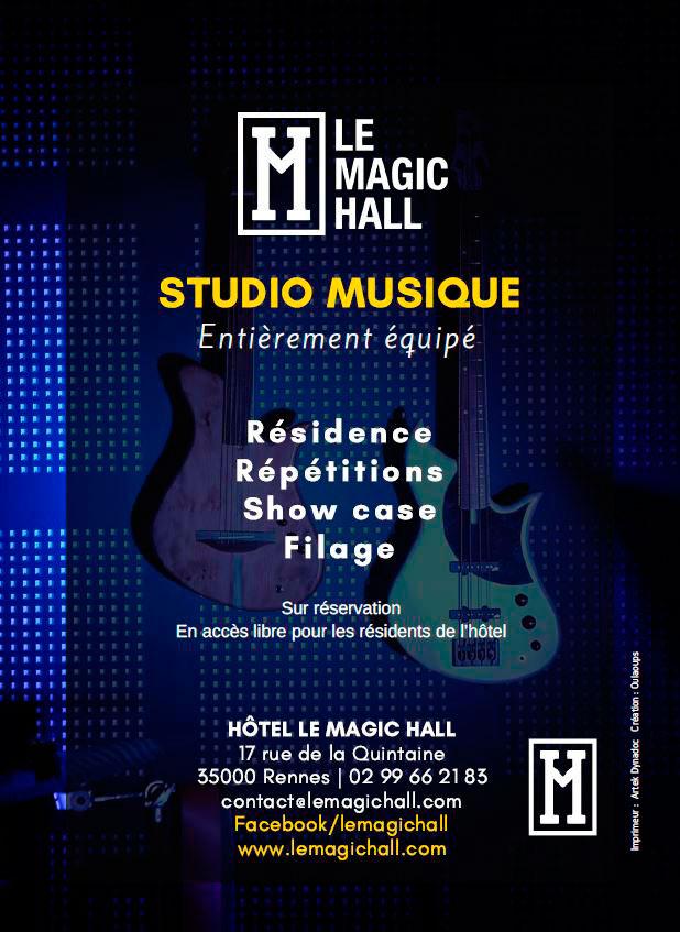 création flyer pour le Magic Hall