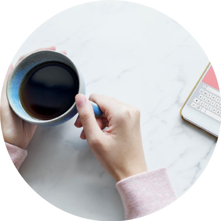 bulle café smartphone