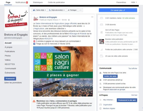 page facebook bretons et engages