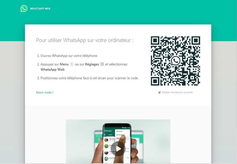 La fonctionnalité Whastapp web pour pouvoir communiquer via Whastapp depuis votre ordinateur